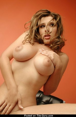 Naked amazing girl with big natural tittes photo