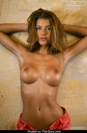Image. Naked wonderful woman with medium breast picture
