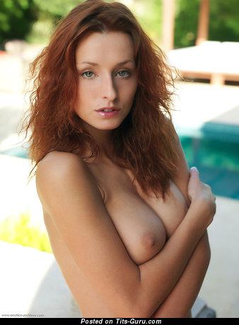 Dominika Johhansen - Cute Topless & Wet Blonde with Cute Naked Real Mega Tittys & Enormous Nipples (Hd 18+ Wallpaper)