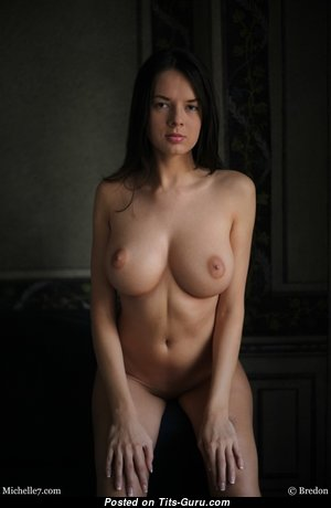 Michelle Seven - Marvelous Brunette Babe & Pornstar with Marvelous Nude Med Boob (Hd Xxx Photo)