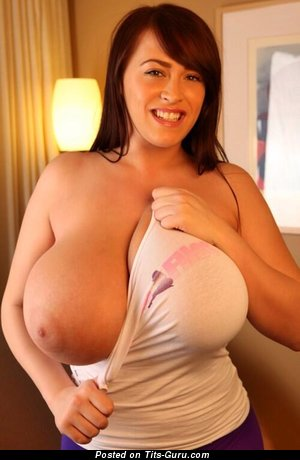 Image. Naked beautiful girl with huge boob image