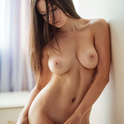 Hot woman with big natural boobies image