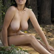 Brunette with big natural boobs and big nipples image