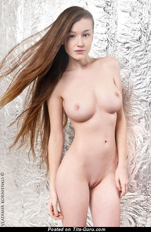 Image. Emily Bloom - nude red hair with medium natural breast picture