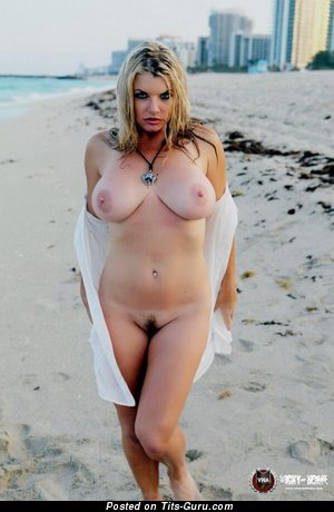 Image. Wet blonde with big tots and piercing pic
