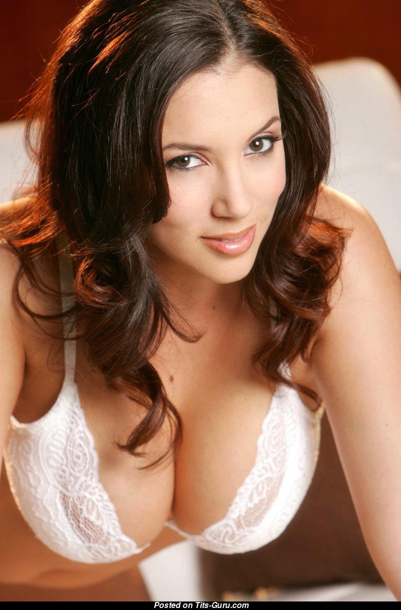 Hot busty package Jelena Jensen doffs her black lingerie to rub her horny twat  1570685