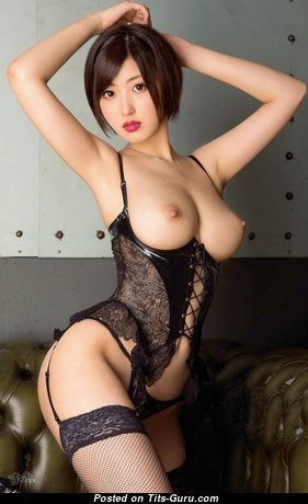 Asahi Mizuno - Sexy Japanese Red Hair with Sexy Defenseless Natural Mid Size Titty (Hd Sexual Foto)