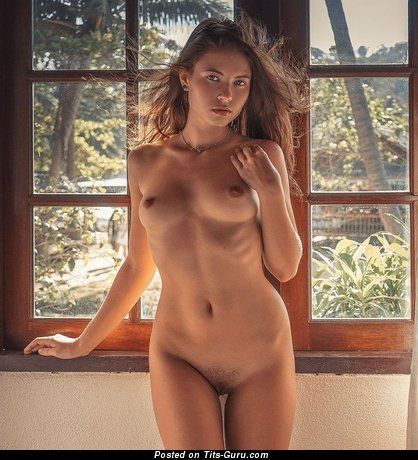 Изображение. Картинка сексуальной обнажённой тёлки с натуральными сиськами