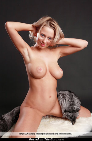 Mandy Dee - naked blonde with medium natural tits pic