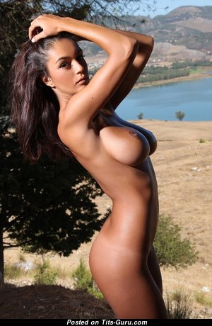 Ela - Adorable Topless Romanian Brunette Babe with Adorable Naked Real D Size Tittes (Xxx Photoshoot)