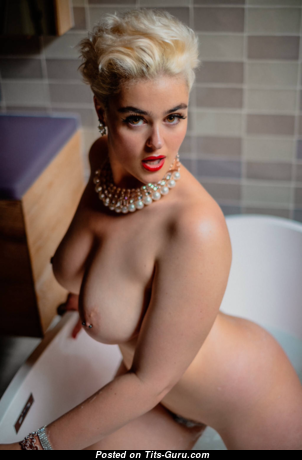 Stefania Ferrario - Elegant Topless Red Hair with Elegant Defenseless Natural Firm Tittys (Hd Porn Wallpaper)