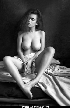 Image. Naked beautiful girl with natural tittes photo