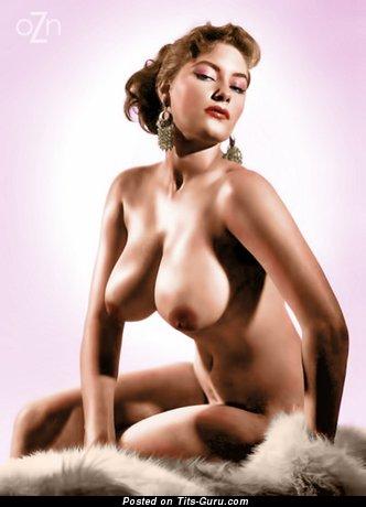 Image. Nude brunette with big boobs vintage