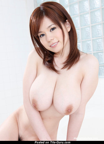 Ariu Ooshima - The Nicest Asian Brunette with The Nicest Nude Real Big Boobies (18+ Wallpaper)