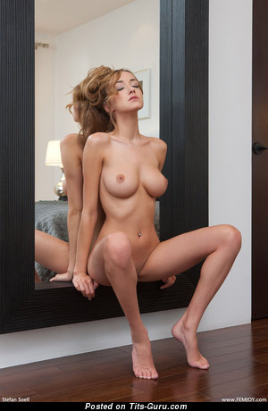 Image. Nude blonde with big natural breast pic