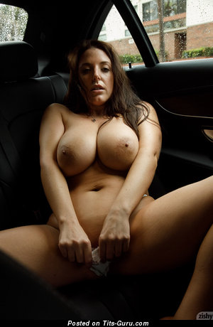 Angela White - naked brunette with big natural boob pic