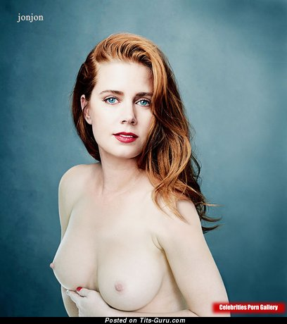 Amy Adams - Perfect Topless Italian Red Hair Actress with Perfect Exposed Natural Mid Size Chest & Red Nipples (Vintage Hd Sexual Photoshoot)