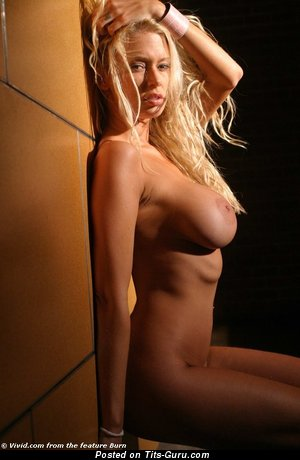 Jenna Jameson: sexy topless blonde with medium tits photo