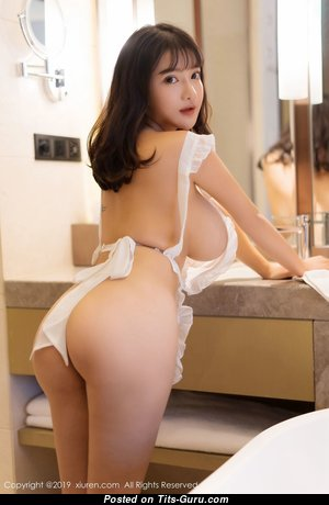 Appealing Asian Babe with Appealing Bald Mega Titties (Hd Sex Photoshoot)