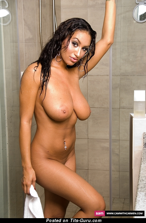 Carmen Bella - nude latina with big natural tittes photo