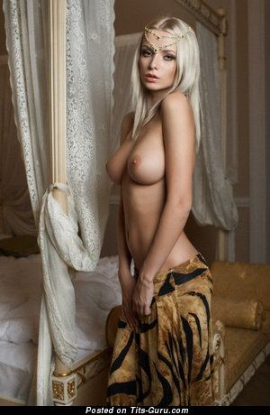 Image. Nude blonde with natural breast picture