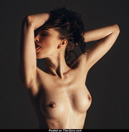 Image. Amazing lady with medium natural boobies image