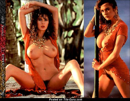 Image. Donna Ewin - sexy wet nude brunette with big natural boobs vintage