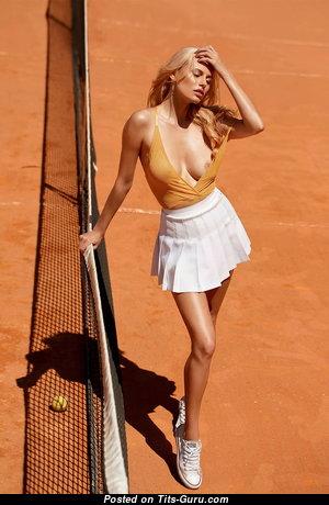 Olga De Mar - Hot Blonde Babe with Hot Naked Natural Busts (18+ Pix)