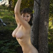 Brunette with big natural tittys and big nipples picture