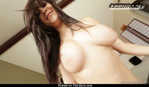 Image. Naked wonderful lady with big natural boob gif
