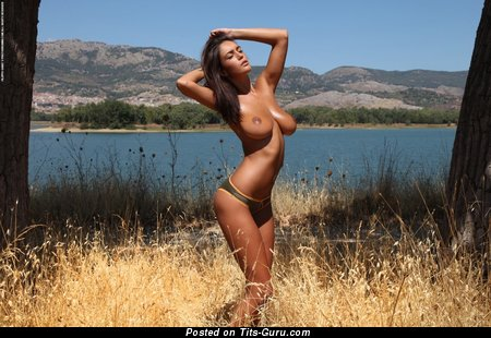Image. Ela Savanas - sexy nude brunette with big tots picture