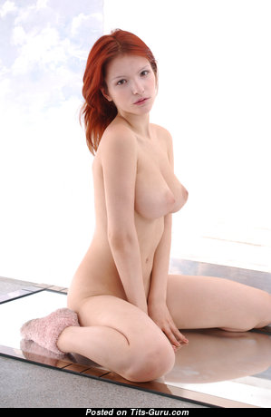 Ulya I - Perfect Ukrainian Red Hair with Perfect Bald Natural Soft Tittes & Erect Nipples (4k Porn Foto)