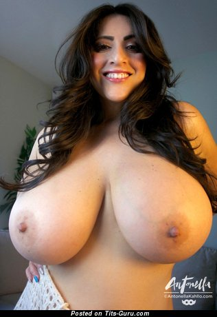 Image. Antonella Kahllo - sexy topless brunette with big tittys picture