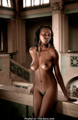 Image. Nude wonderful woman with natural breast photo
