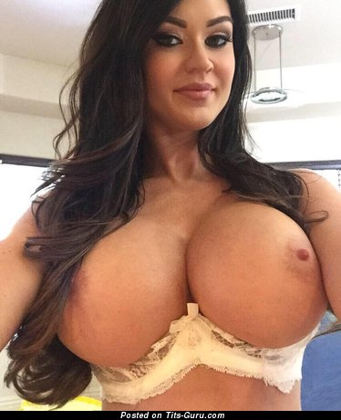Kendall Karson - naked brunette with huge fake boobs photo