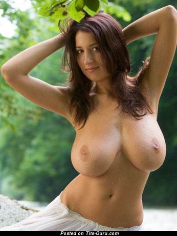 Image. Naked awesome lady with huge natural boobies photo