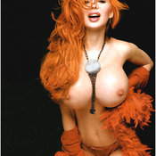 Сабрина Саброк - red hair with big fake tittes image