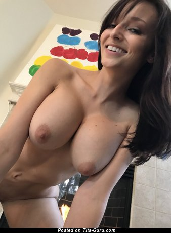 Image. Lexi Luna - nude brunette with medium natural boobs selfie