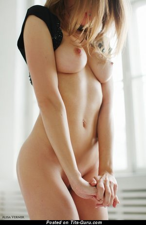 Image. Nude awesome girl with medium natural boobies photo