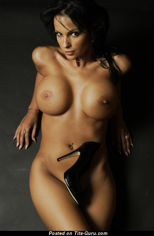 Image. Adina Barbu - sexy nude brunette with big fake tittys pic