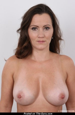 Eva (czech Casting No.9802) - Pretty Topless Brunette with Pretty Naked Natural Soft Melons & Red Nipples (Hd Porn Wallpaper)