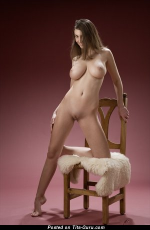 Image. Ashley - nude brunette with big natural tittes photo