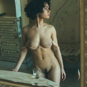 Awesome lady with natural breast image