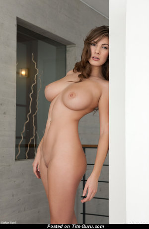 Conny Carter - sexy topless wonderful female with medium natural tits picture