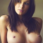 Wonderful female with big natural tittes image