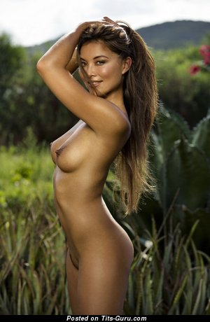 Image. Naked beautiful female with medium tittys image
