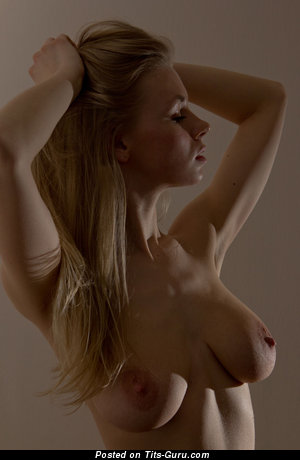 Lolly O - Handsome Topless Blonde with Handsome Bare Natural Mid Size Tittes & Large Nipples (Hd Xxx Picture)
