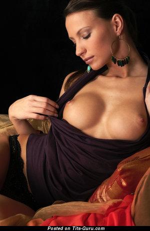 Image. Beautiful woman with medium tittes image