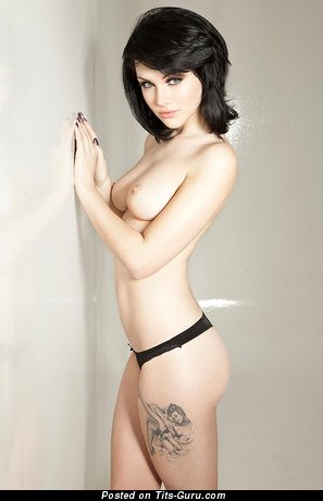 Handsome Nude Brunette Babe with Tattoo (Porn Pic)