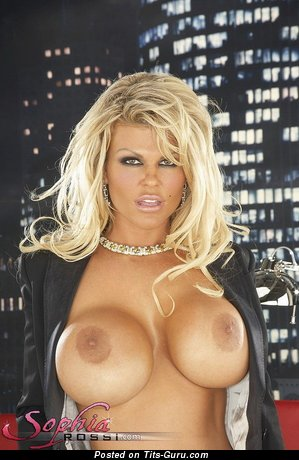 Sophia Rossi - sexy nude blonde with big fake tits pic
